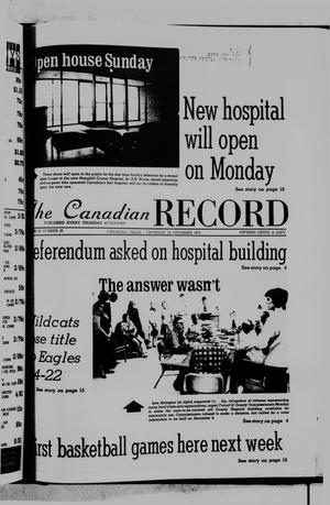 Primary view of object titled 'The Canadian Record (Canadian, Tex.), Vol. 86, No. 46, Ed. 1 Thursday, November 13, 1975'.