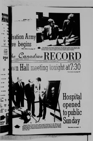 Primary view of object titled 'The Canadian Record (Canadian, Tex.), Vol. 86, No. 47, Ed. 1 Thursday, November 20, 1975'.
