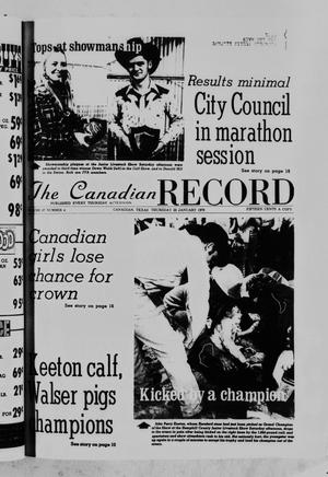 Primary view of object titled 'The Canadian Record (Canadian, Tex.), Vol. 87, No. 4, Ed. 1 Thursday, January 22, 1976'.