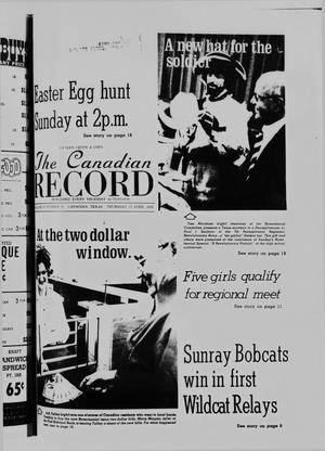Primary view of object titled 'The Canadian Record (Canadian, Tex.), Vol. 87, No. 16, Ed. 1 Thursday, April 15, 1976'.