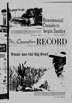 Primary view of object titled 'The Canadian Record (Canadian, Tex.), Vol. 87, No. 25, Ed. 1 Thursday, June 17, 1976'.