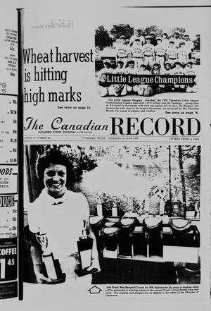 Primary view of object titled 'The Canadian Record (Canadian, Tex.), Vol. 87, No. 26, Ed. 1 Thursday, June 24, 1976'.