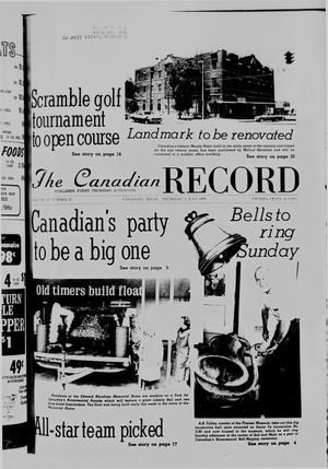 Primary view of object titled 'The Canadian Record (Canadian, Tex.), Vol. 87, No. 27, Ed. 1 Thursday, July 1, 1976'.