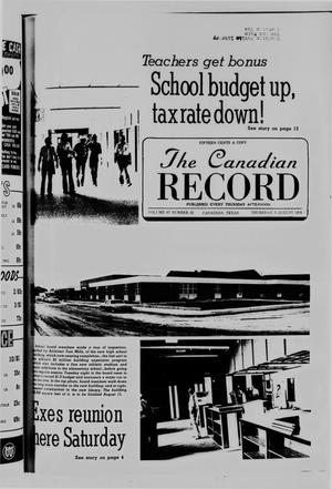 Primary view of object titled 'The Canadian Record (Canadian, Tex.), Vol. 87, No. 32, Ed. 1 Thursday, August 5, 1976'.