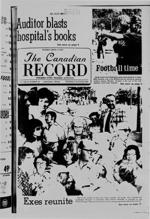 Primary view of object titled 'The Canadian Record (Canadian, Tex.), Vol. 87, No. 33, Ed. 1 Thursday, August 12, 1976'.