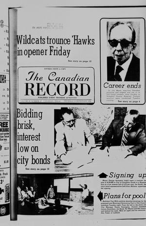 Primary view of object titled 'The Canadian Record (Canadian, Tex.), Vol. 87, No. 37, Ed. 1 Thursday, September 9, 1976'.