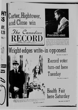 Primary view of object titled 'The Canadian Record (Canadian, Tex.), Vol. 87, No. 45, Ed. 1 Thursday, November 4, 1976'.