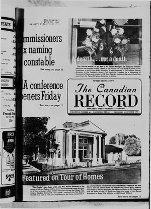 Primary view of object titled 'The Canadian Record (Canadian, Tex.), Vol. 88, No. 41, Ed. 1 Thursday, October 13, 1977'.