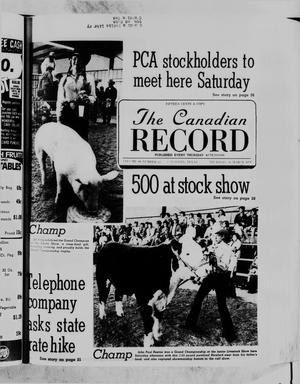Primary view of object titled 'The Canadian Record (Canadian, Tex.), Vol. 89, No. 11, Ed. 1 Thursday, March 16, 1978'.