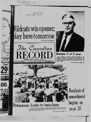 Primary view of object titled 'The Canadian Record (Canadian, Tex.), Vol. 89, No. 37, Ed. 1 Thursday, September 14, 1978'.