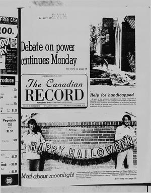 Primary view of object titled 'The Canadian Record (Canadian, Tex.), Vol. 89, No. 42, Ed. 1 Thursday, October 19, 1978'.