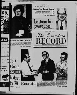 Primary view of object titled 'The Canadian Record (Canadian, Tex.), Vol. 90, No. 3, Ed. 1 Thursday, January 18, 1979'.