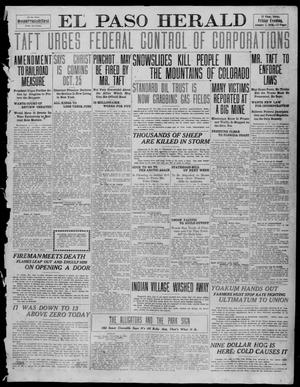 Primary view of object titled 'El Paso Herald (El Paso, Tex.), Ed. 1, Friday, January 7, 1910'.