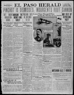 Primary view of object titled 'El Paso Herald (El Paso, Tex.), Ed. 1, Saturday, January 8, 1910'.