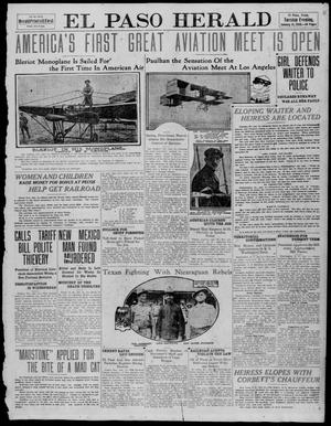 Primary view of object titled 'El Paso Herald (El Paso, Tex.), Ed. 1, Tuesday, January 11, 1910'.