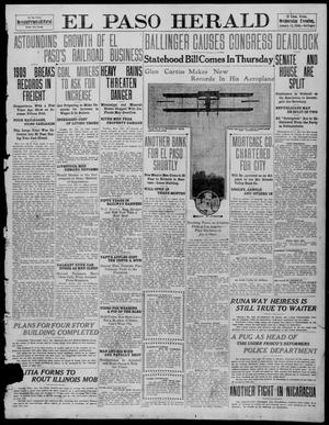 Primary view of object titled 'El Paso Herald (El Paso, Tex.), Ed. 2, Wednesday, January 12, 1910'.