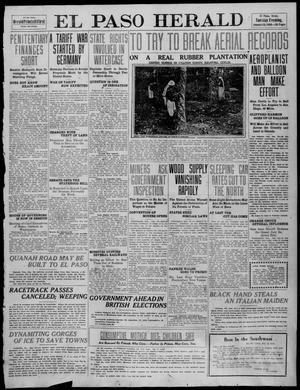 Primary view of object titled 'El Paso Herald (El Paso, Tex.), Ed. 1, Tuesday, January 18, 1910'.