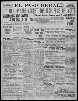 Primary view of object titled 'El Paso Herald (El Paso, Tex.), Ed. 1, Friday, January 21, 1910'.