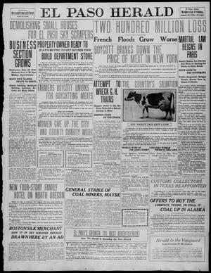 Primary view of object titled 'El Paso Herald (El Paso, Tex.), Ed. 1, Wednesday, January 26, 1910'.