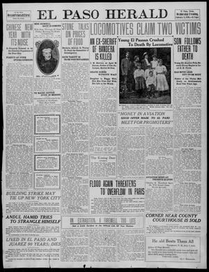 Primary view of object titled 'El Paso Herald (El Paso, Tex.), Ed. 1, Wednesday, February 9, 1910'.