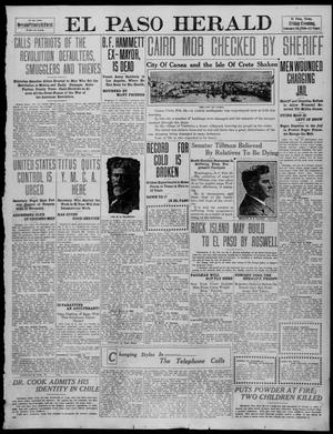 Primary view of object titled 'El Paso Herald (El Paso, Tex.), Ed. 1, Friday, February 18, 1910'.