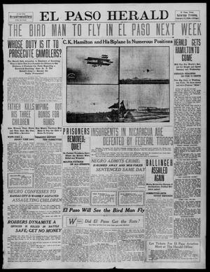 Primary view of object titled 'El Paso Herald (El Paso, Tex.), Ed. 1, Saturday, February 19, 1910'.