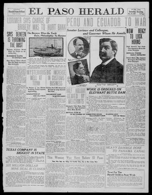 Primary view of object titled 'El Paso Herald (El Paso, Tex.), Ed. 1, Saturday, May 28, 1910'.