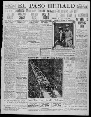 Primary view of El Paso Herald (El Paso, Tex.), Ed. 1, Wednesday, June 1, 1910