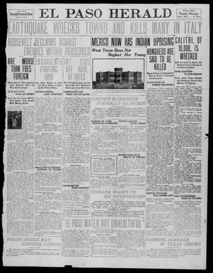 Primary view of object titled 'El Paso Herald (El Paso, Tex.), Ed. 1, Tuesday, June 7, 1910'.