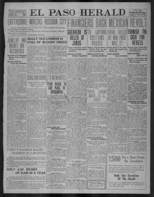 Primary view of object titled 'El Paso Herald (El Paso, Tex.), Ed. 1, Wednesday, January 4, 1911'.