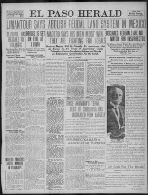 Primary view of object titled 'El Paso Herald (El Paso, Tex.), Ed. 1, Monday, February 20, 1911'.