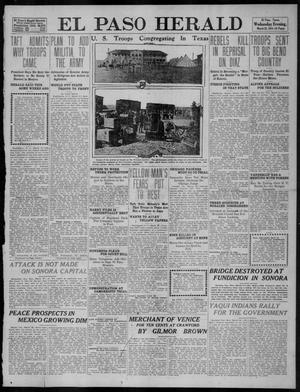 Primary view of object titled 'El Paso Herald (El Paso, Tex.), Ed. 1, Wednesday, March 22, 1911'.