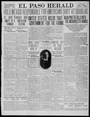 Primary view of object titled 'El Paso Herald (El Paso, Tex.), Ed. 1, Friday, April 14, 1911'.
