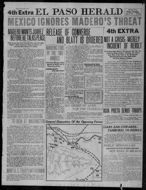 Primary view of object titled 'El Paso Herald (El Paso, Tex.), Ed. 1, Friday, April 21, 1911'.