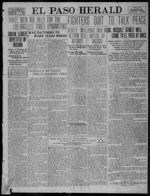 Primary view of object titled 'El Paso Herald (El Paso, Tex.), Ed. 1, Monday, April 24, 1911'.