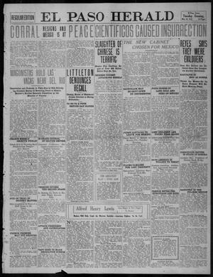Primary view of object titled 'El Paso Herald (El Paso, Tex.), Ed. 1, Tuesday, May 23, 1911'.
