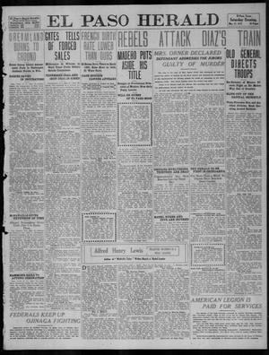 Primary view of object titled 'El Paso Herald (El Paso, Tex.), Ed. 1, Saturday, May 27, 1911'.