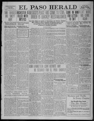 Primary view of object titled 'El Paso Herald (El Paso, Tex.), Ed. 1, Monday, July 10, 1911'.
