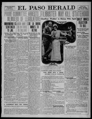 Primary view of object titled 'El Paso Herald (El Paso, Tex.), Ed. 1, Friday, August 18, 1911'.