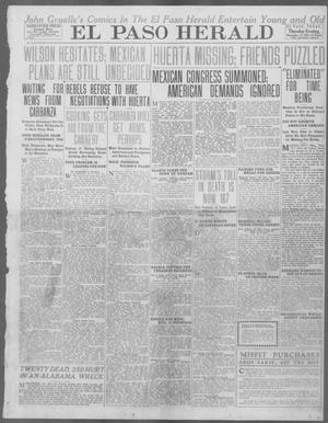 Primary view of object titled 'El Paso Herald (El Paso, Tex.), Ed. 1, Thursday, November 13, 1913'.