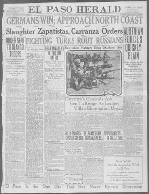 Primary view of object titled 'El Paso Herald (El Paso, Tex.), Ed. 1, Thursday, November 12, 1914'.