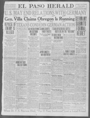 Primary view of object titled 'El Paso Herald (El Paso, Tex.), Ed. 1, Monday, May 10, 1915'.