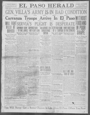 Primary view of object titled 'El Paso Herald (El Paso, Tex.), Ed. 1, Saturday, October 30, 1915'.