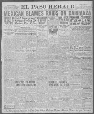 Primary view of object titled 'El Paso Herald (El Paso, Tex.), Ed. 1, Friday, January 23, 1920'.