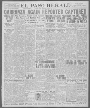 Primary view of El Paso Herald (El Paso, Tex.), Ed. 1, Wednesday, May 19, 1920
