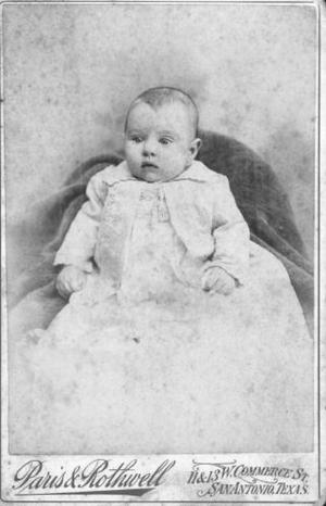 [Dorothea Guenther at 4 months old in December of 1894.]