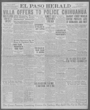 Primary view of object titled 'El Paso Herald (El Paso, Tex.), Ed. 1, Friday, July 9, 1920'.