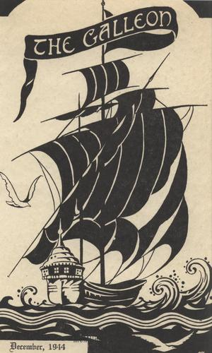Primary view of object titled 'The Galleon, Volume 21, Number 1, December 1944'.