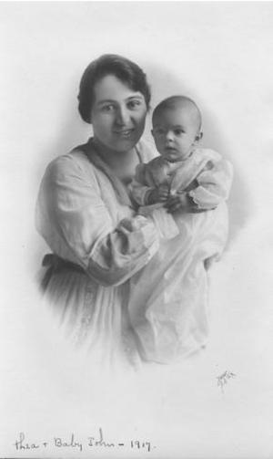 [Dorothea Guenther Moore with John Moore III (as an infant).]