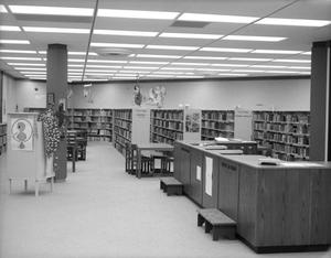 Primary view of object titled '[Circulation Desk at Deaf Smith County Library]'.